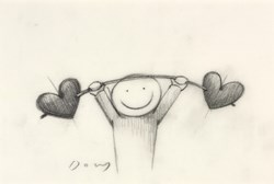 Love Lifting by Doug Hyde -  sized 6x4 inches. Available from Whitewall Galleries